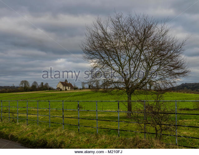 St. Hubert's Kirche Idsworth Hampshire Stockbild