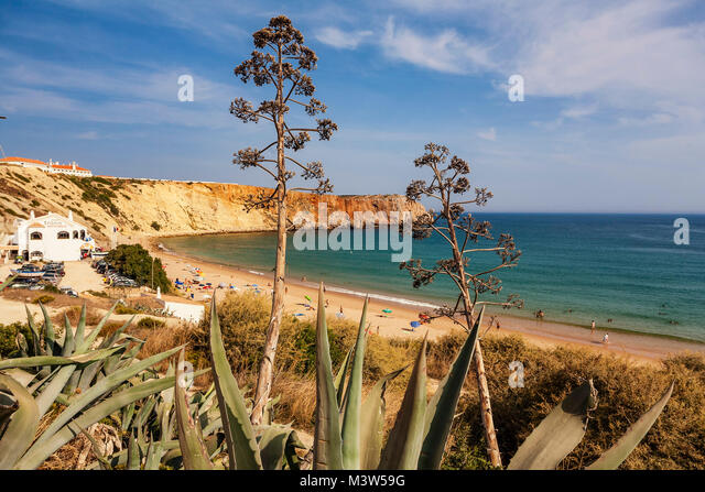 Portugal Algarve Atlantikc Küste Strand Praia de Mareta   Sagres Portugal Atlantik Tarifbezirk Kueste Badestrand, Stockbild
