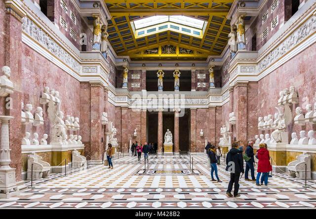 Die haupthalle der Ruhmeshalle Walhalla in Donaustauf auf der Donau in Regensburg, Bayern, Deutschland. Stockbild