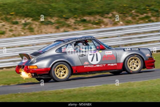 1979 Porsche 911 RSR mit Fahrer Tony Blake während der cscc Vorteil Motorsport Klassikern Rennen in Snetterton Stockbild