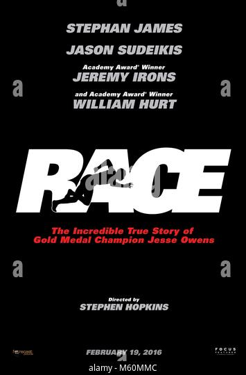 Filmplakat RACE (2016) Stockbild
