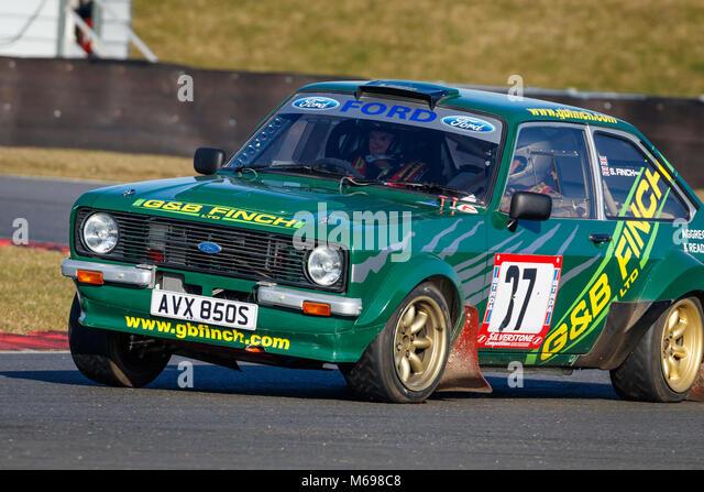 Steven Finch in seinem Ford Escort MK2 2018 Motorsport News Snetterton Bühne Rally, Norfolk, Großbritannien. Stockbild