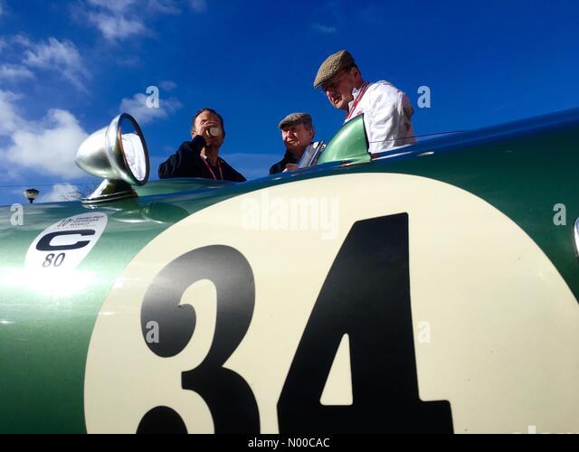 Bromyard Speed Festival Herefordshire UK - feinen hellen Sonnentag bei Bromyard Speed Festival Petrolheads bewundern Stockbild