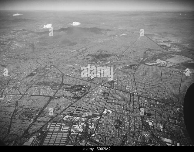Luftaufnahme von Mexiko-Stadt Stockbild