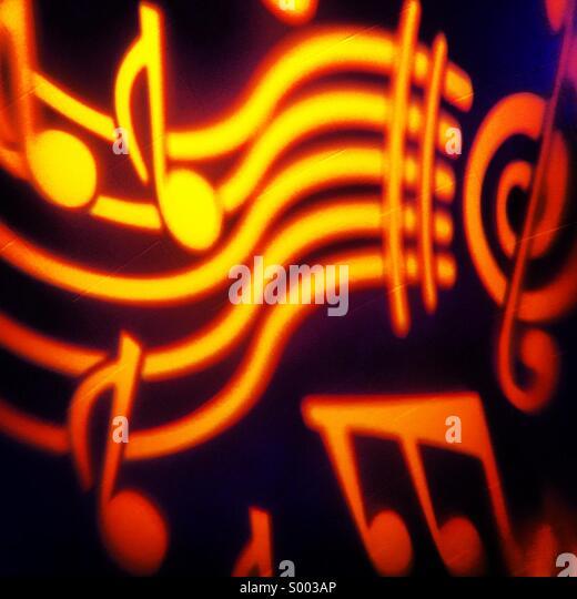 Musiknoten Stockbild