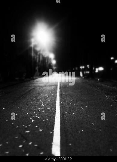 Einsame Straße Stockbild