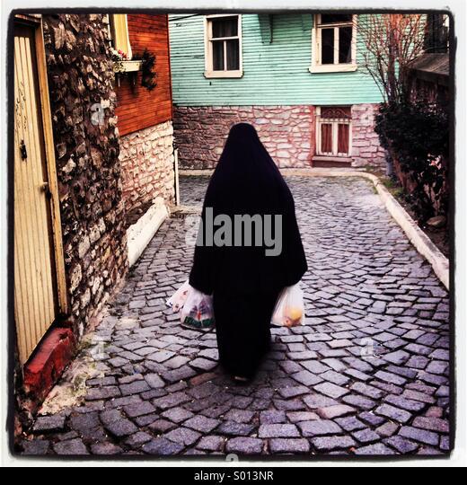Die muslimische Frau-Istanbul-Türkei Stockbild