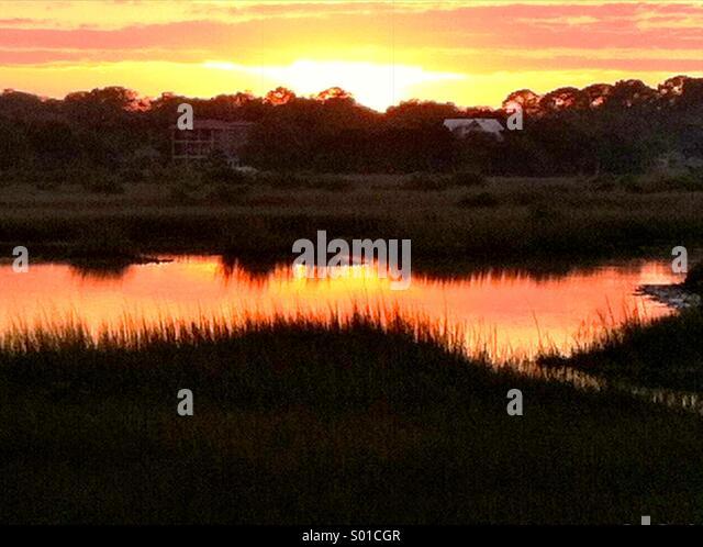 Sonnenuntergang-St Augustine FL Stockbild