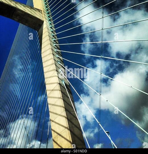 Severnbrücke, UK Stockbild