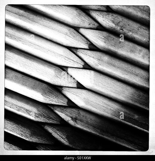 Bleistifte in Folge Stockbild