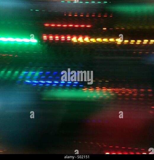 Leuchtspuren Stockbild