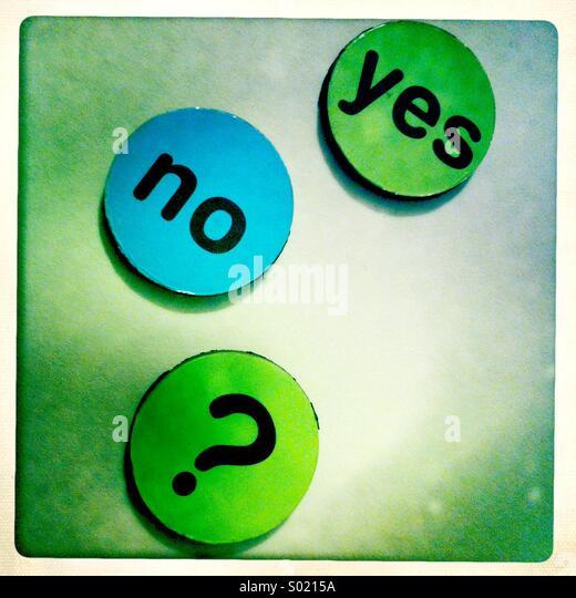 Ja oder nein Stockbild