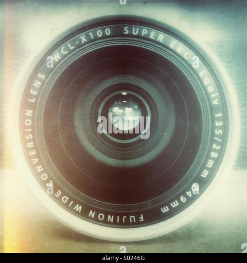 Kamera-Objektiv Stockbild