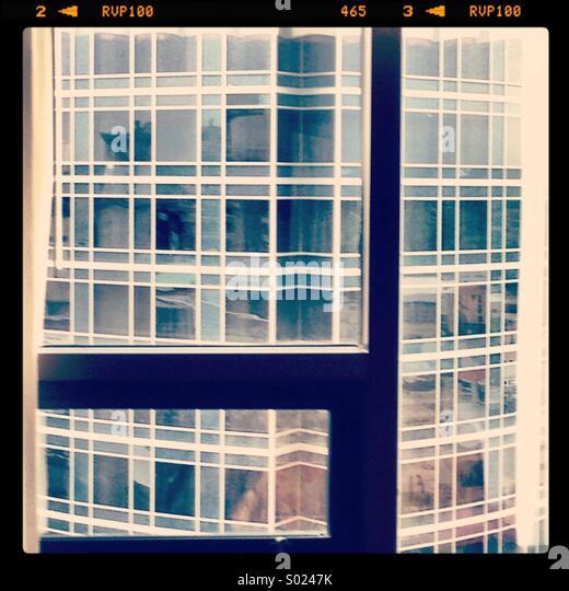 Hotel-Fenster-Ansicht Stockbild