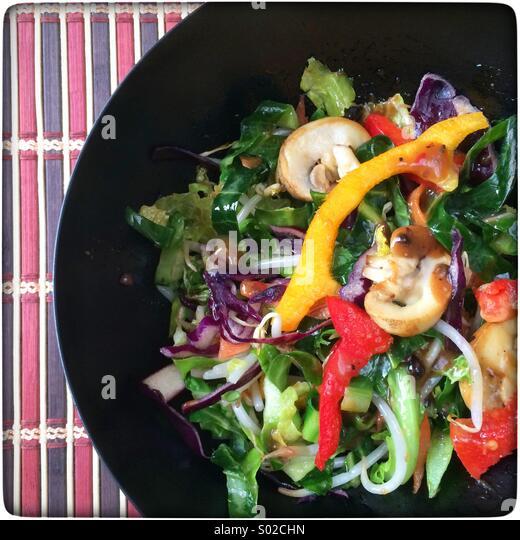 Bunte Pfanne braten Gemüse im Wok gekocht wird. Stockbild