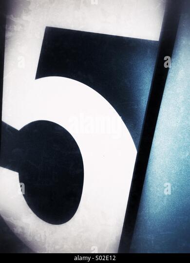 Fünf Stockbild