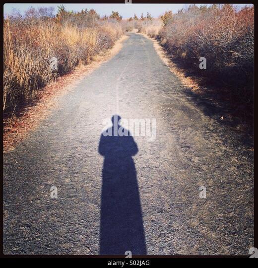 Mein Schatten Stockbild