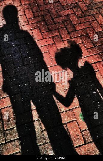 Schatten-Menschen Stockbild