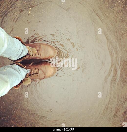 Ins Wasser Stockbild