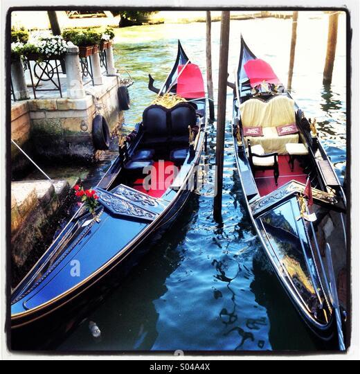 Venezianische Gondeln Stockbild