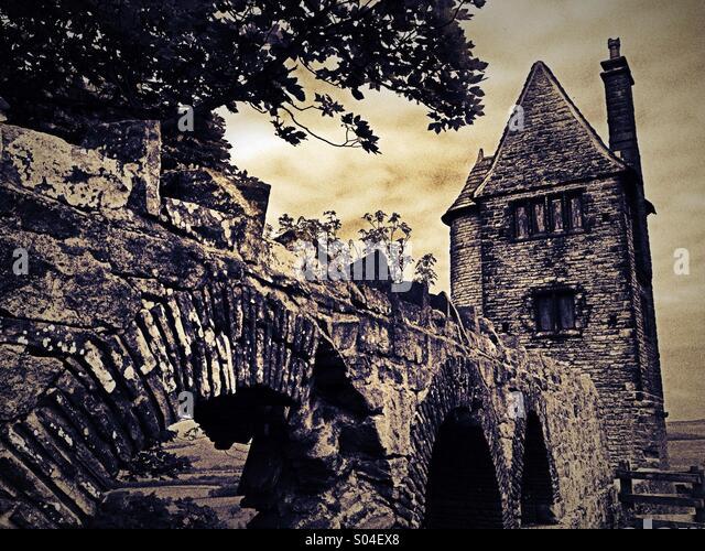 Taubenturm Torheit bei Rivington in Hebel Park, Lancashire Stockbild