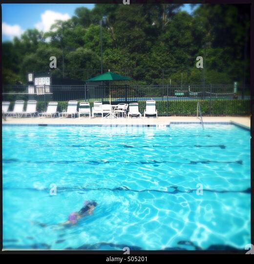 Linie-Schwimmer Stockbild