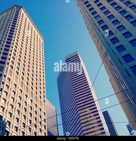 Die Innenstadt von Bürogebäuden, Seattle, Washington, Stockbild