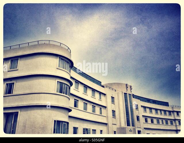 Art-Deco-Midland Hotel in Morecambe Stockbild