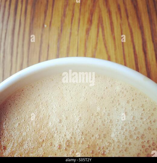 Tasse Cappuccino Kaffee trinken detail Stockbild