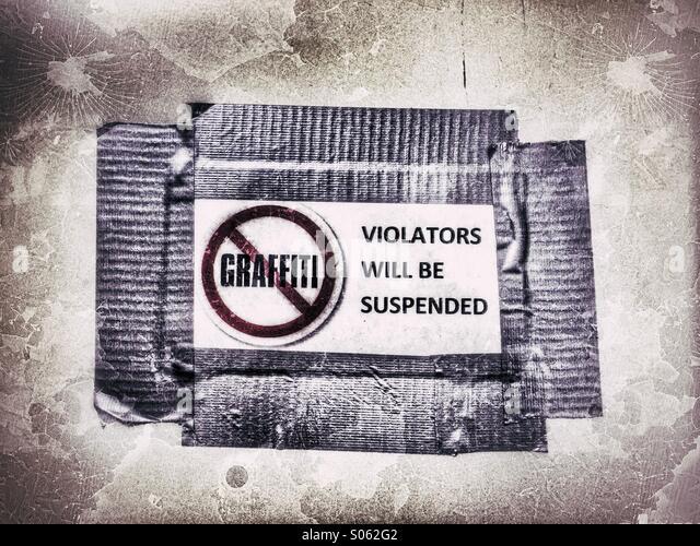 Kein Graffiti Stockbild