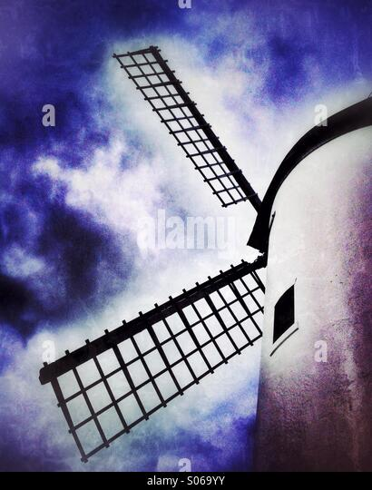 Segel auf Lytham Windmühle Stockbild