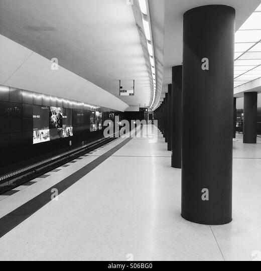 U-Bahnhof Bundestag, berlin Stockbild