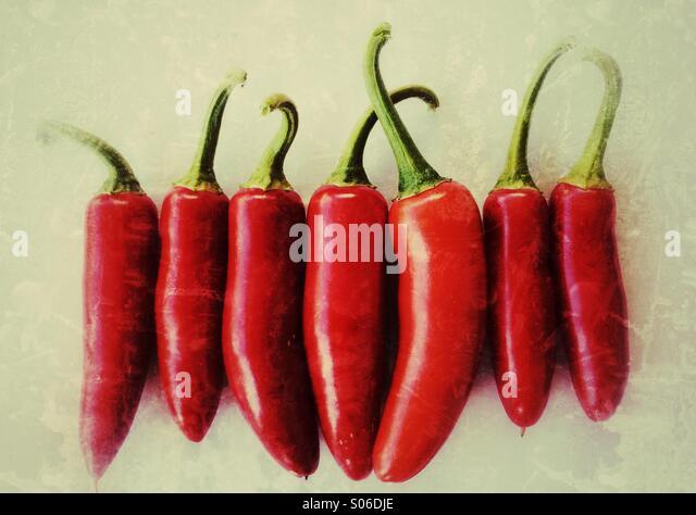 Serrano Chili Peppers Stockbild