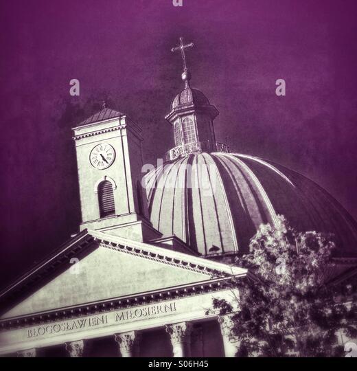 Die Basilika von Vincent de Paul sieht in Bydgoszcz, Polen. Stockbild