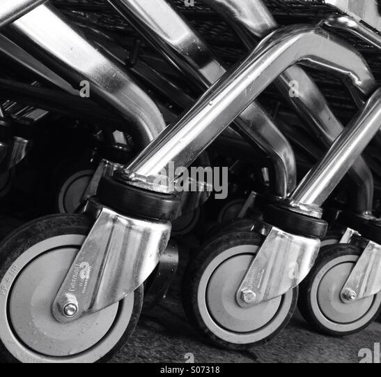 Trolley-Räder Stockbild