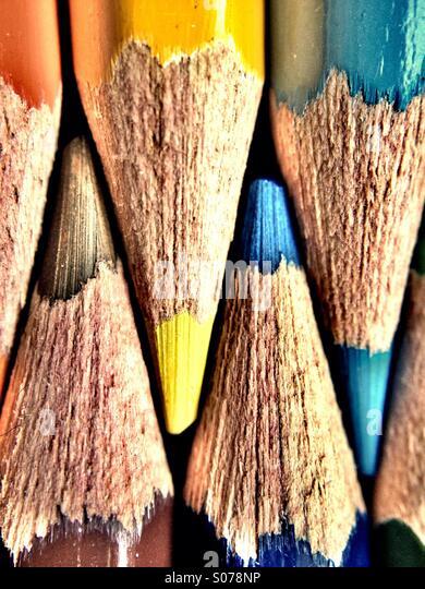 Färbung Buntstifte Stockbild