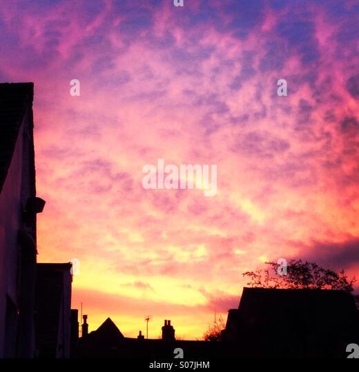 Morgenhimmel Stockbild