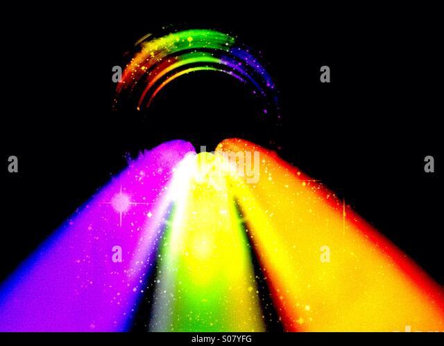 Nahaufnahme von Leuchtstäben Stockbild