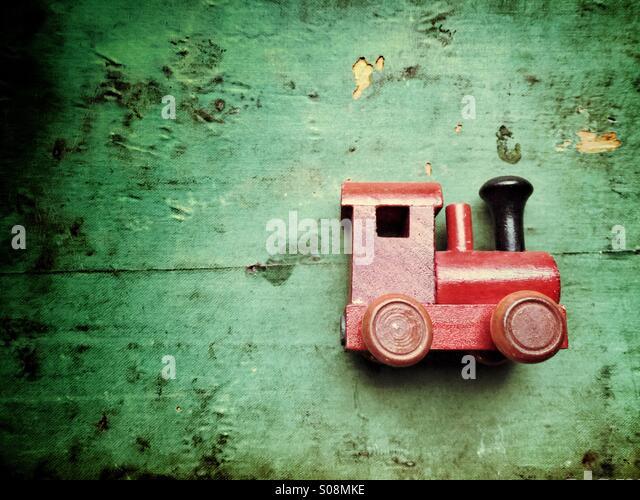 Spielzeug aus Holz Nostalgiezug Stockbild