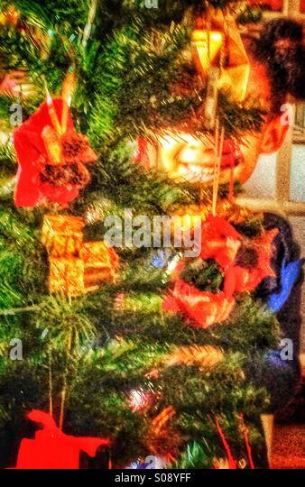 Der Weihnachtsbaum Stockbild