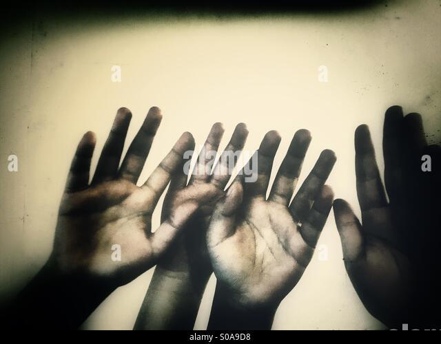 Kinder Hände Stockbild