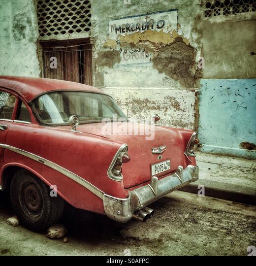 Booten der kubanischen Klassikers. Stockbild