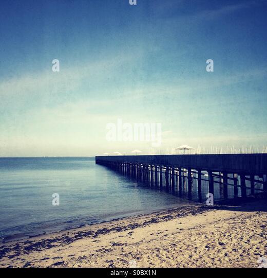 Brighton Meer Bäder, Melbourne, Australien Stockbild