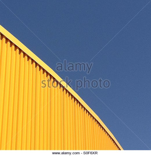 Blau - gelb Stockbild