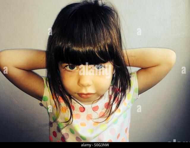 3 - Jahre altes Mädchen Stockbild