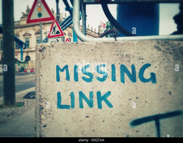 Missing link Stockbild
