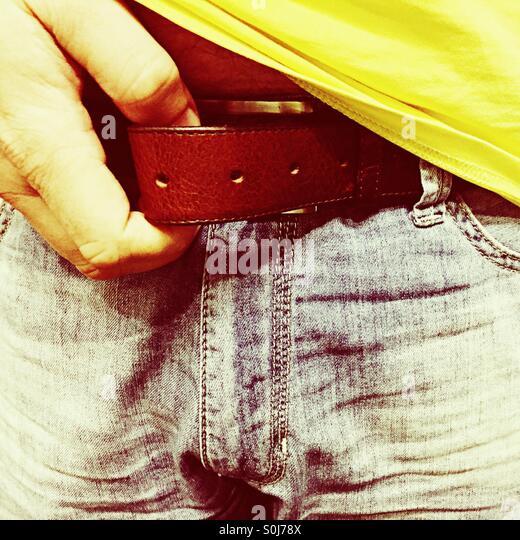 Öffnen den Gürtel Stockbild
