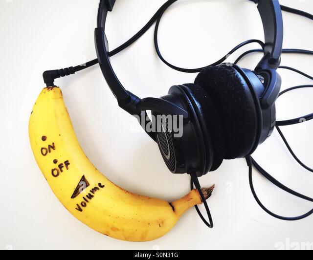 Banane-Musik Stockbild