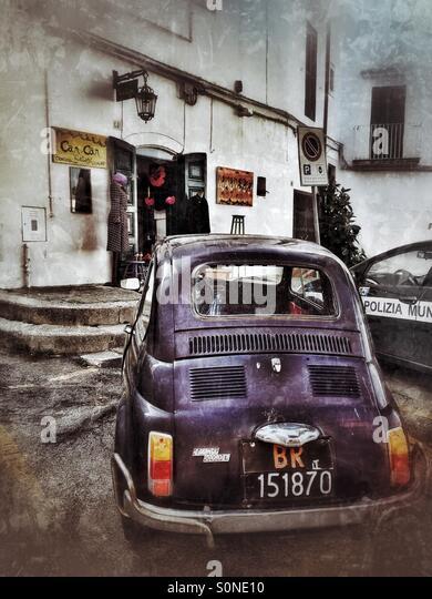 nostalgische Fiat Auto in Italien Stockbild