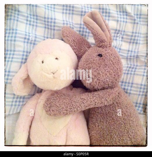 Lamm und Kaninchen Stockbild